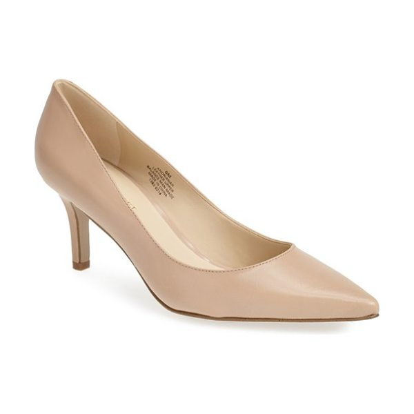 Nine West adriana pointy toe pump in taupe leather - A just-right heel and a pretty, pointed toe make this...