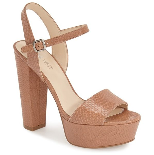 Nine West carnation platform sandal in natural leather
