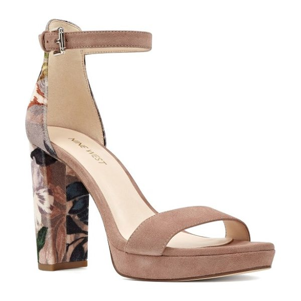 NINE WEST dempsey platform sandal - A tapered architectural heel adds dramatic lift to a...