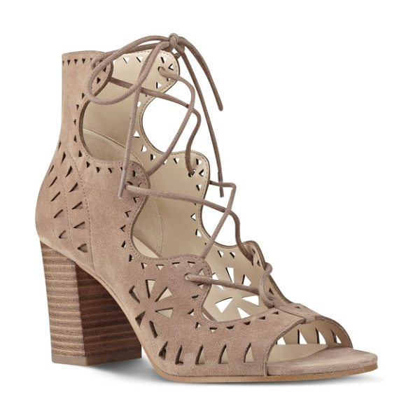 NINE WEST gweniah ghillie lace gladiator sandal - Gorgeous geometric cutouts provide a beautiful...