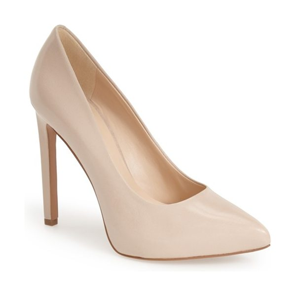 NINE WEST leap a faith pointy toe pump - A hidden platform and tall stiletto lend leg-lengthening...