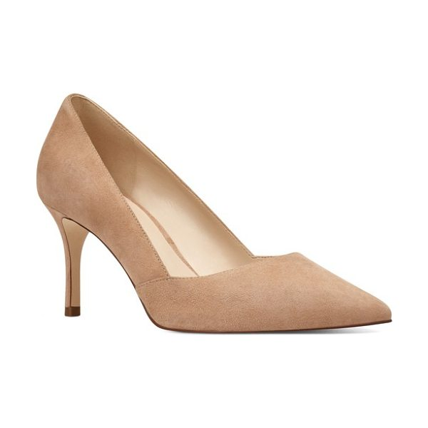 Nine West mine pointy toe pump in light natural suede - Perfectly poised and fit for any occasion, this classic...