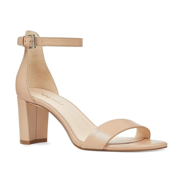Nine West pruce ankle strap sandal in beige