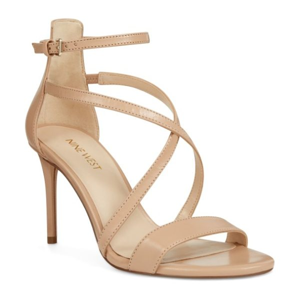 NINE WEST retail therapy strappy sandal in natural leather - Perfect for a glamorous evening or night on the town,...