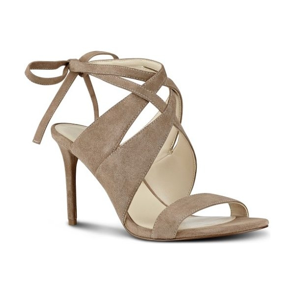 Nine West ronnie ankle tie sandal in natural suede