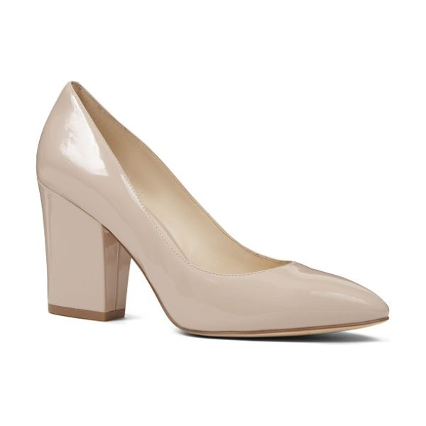 Nine West scheila pointy toe pump in natural faux leather - A classic pointy-toe pump gets a bold upgrade with a...