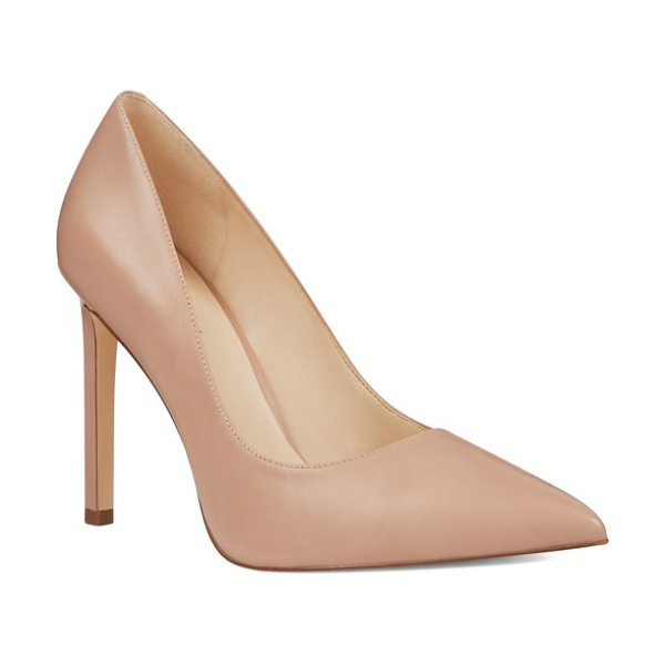 Nine West 'tatiana' pointy toe pump in natural - Perfectly poised and fit for any occasion, this classic...