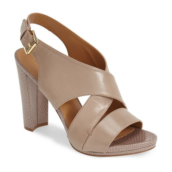 Nine West wade leather sandal in taupe leather