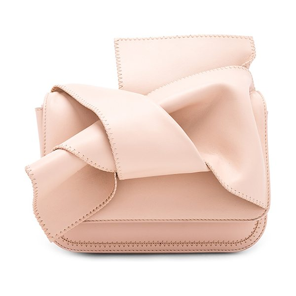 """NO. 21 Bow Shoulder Bag - """"Leather exterior with raw leather lining. Flap top with..."""