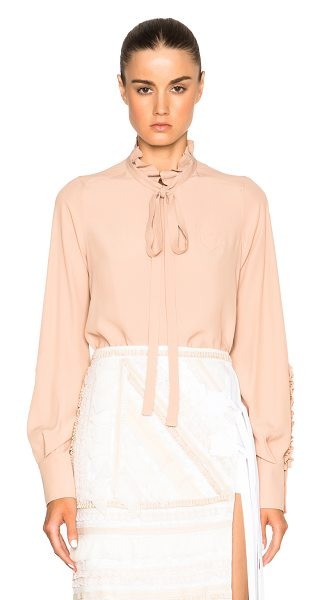 No. 21 Crepe De Chine Button Top in neutrals - With a keen eye for trends of the moment, No. 21 offers...
