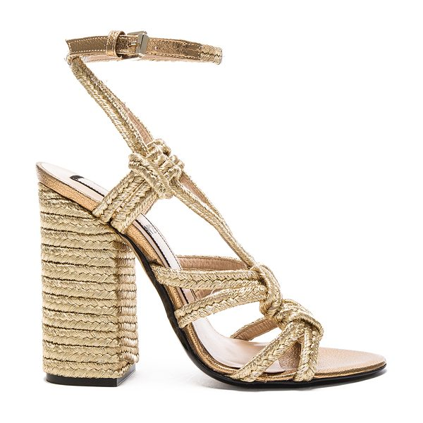 No. 21 Espadrille Heel in metallics - With a keen eye for trends of the moment, No. 21 offers...