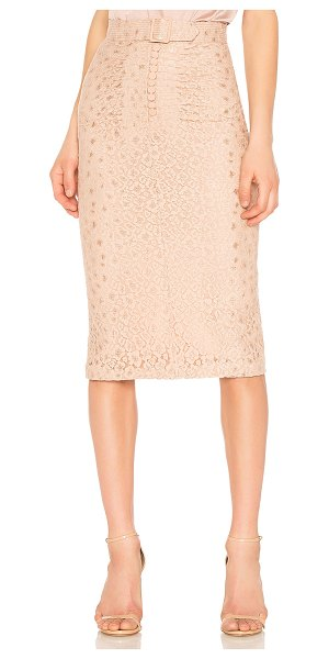 "No. 21 Midi Skirt in beige - ""Reminiscent to a waft of lingering perfume, No. 21..."