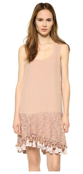 No. 21 Sleeveless dress in nude - A graceful, bohemian No. 21 tank dress with tassels and...