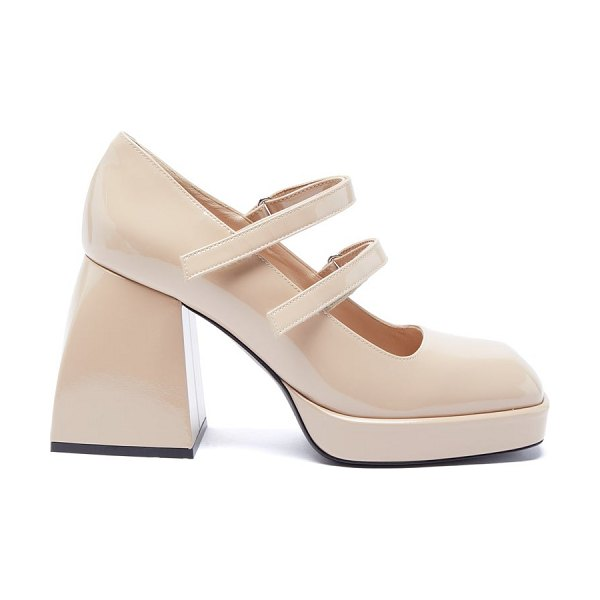 NODALETO bulla babies mary jane patent-leather pumps in cream