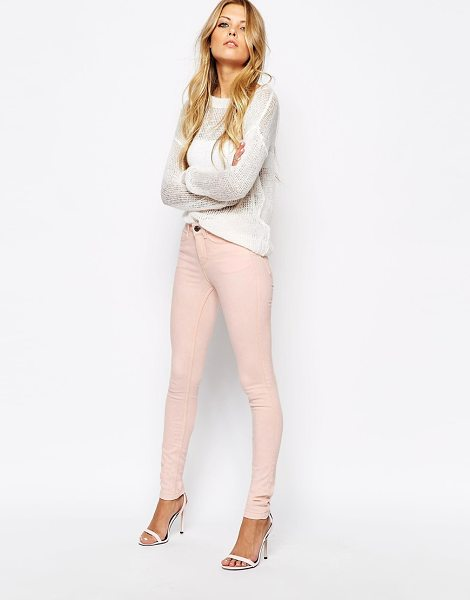 Noisy May Bubblegum skinny jeans in pink - Skinny jeans by Noisy May Firm-stretch, denim fabric Zip...