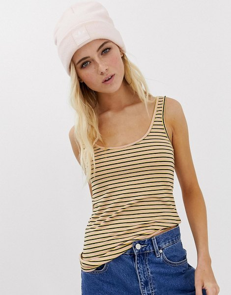 Noisy May colored ribbed tank in mellowrosestripe - Tank by Noisy May, Yeah, we like this one, too, Scoop...