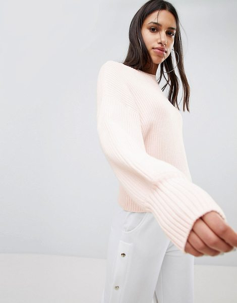 Noisy May knitted sweater in pink - Sweater by Noisy May, Welcome to the cozy life, Crew...