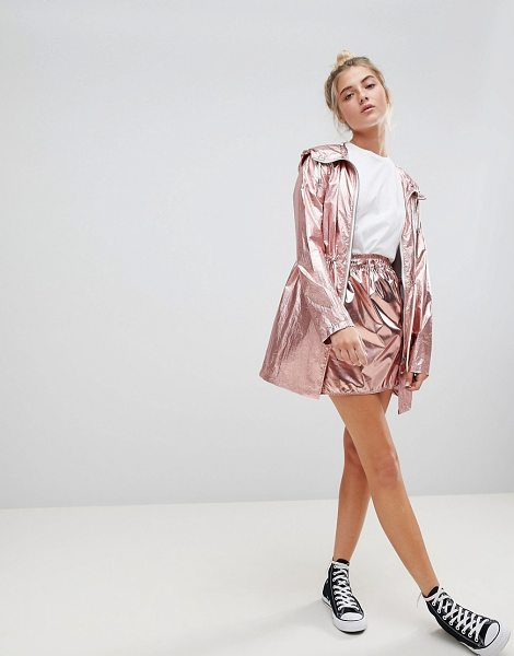 Noisy May metallic skirt in pink - Skirt by Noisy May, Metallic finish, It's time to shine,...