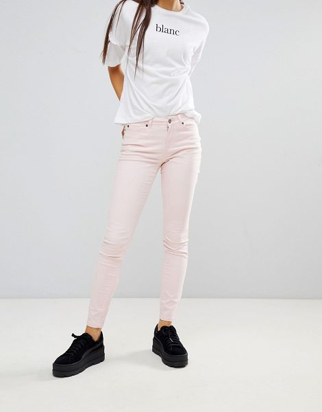 Noisy May skinny jeans in pink - Skinny jeans by Noisy May, Mid-rise waist, Concealed...