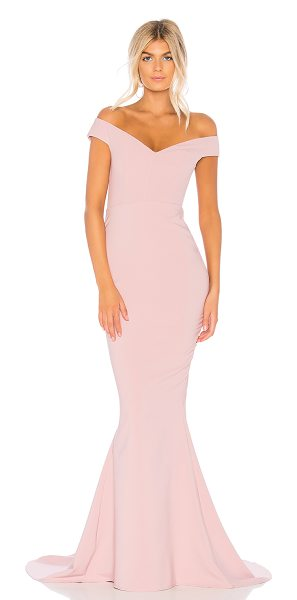 Nookie Allure Gown in mauve - Poly/spandex blend. Fully lined. Boned bust. Non-slip...