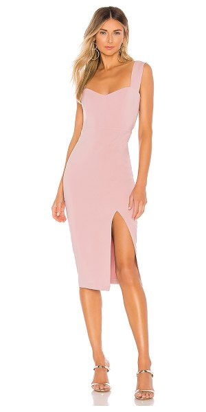 Nookie divine midi dress in dusty pink