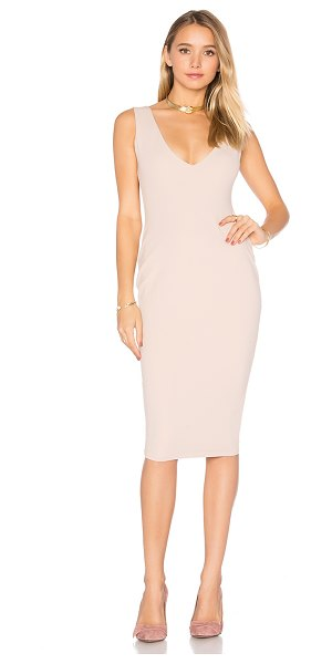 Nookie Majesty Midi Dress in nude - Poly/Spandex blend. Hand wash cold. Fully lined. Hidden...