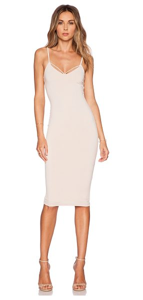 Nookie Mi amore backless shift dress in blush - 94% poly 6% spandex. Dry clean only. Fully lined. Back...
