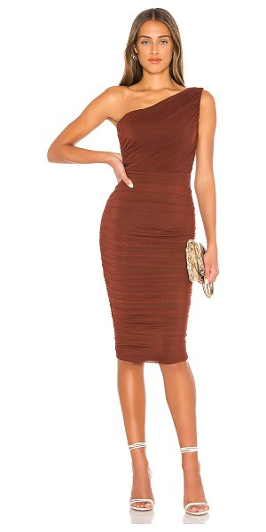 Nookie x revolve inspire one shoulder midi dress in chocolate