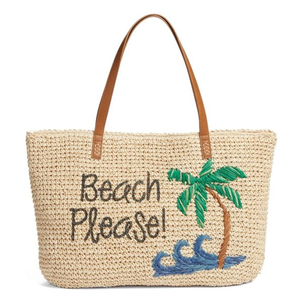 Nordstrom beach please tote in natural - Hit the boardwalk with a summer-ready straw tote...