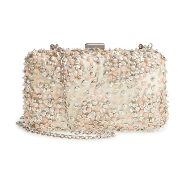 Nordstrom confetti sequin minaudiere in champagne - Stacked confetti glitter shimmers and shines at the...
