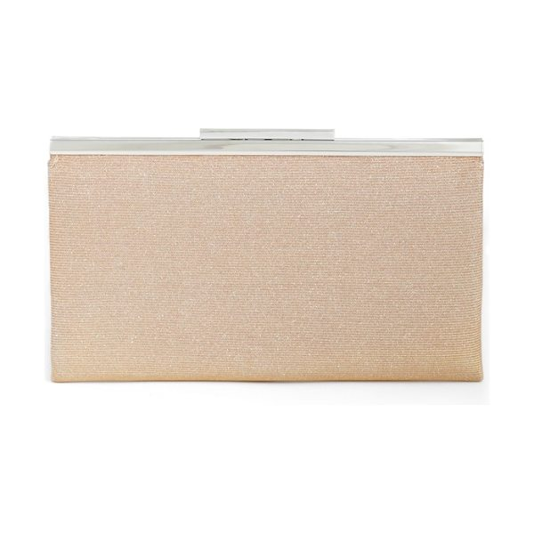 Nordstrom glitter clutch in blush - Twinkling glitter dials up the glamour on a slim-frame...