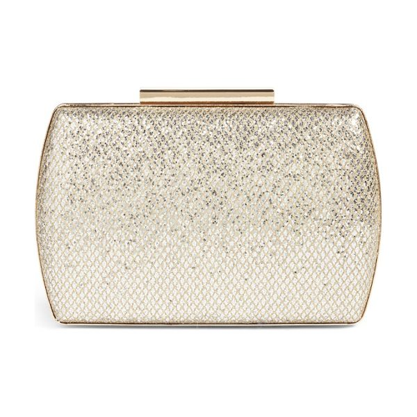 Nordstrom glitter minaudiere in gold - With a glittering finish, polished hardware and a...