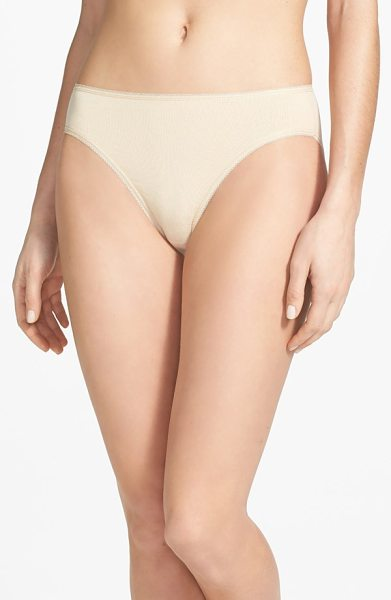 Nordstrom high cut cotton blend briefs in beige frappe