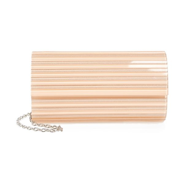 Nordstrom metallic lucite clutch in blush - A sleek Lucite clutch with metallic sheen holds all your...