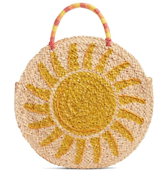Nordstrom shine raffia circular tote in natural - Perfect for that upcoming beach vacation or anytime you...