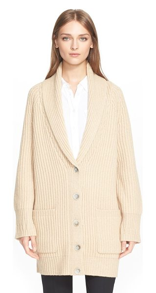 Nordstrom Signature and Caroline Issa ribbed cashmere blend cardigan in tan camel - Fashion icon Caroline Issa's internationally renowned...