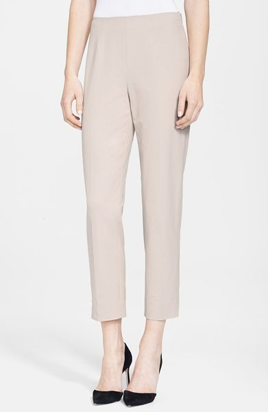 Nordstrom Signature roma ankle pants in taupe khaki - Slim-cut ankle pants rendered in a flattering bi-stretch...