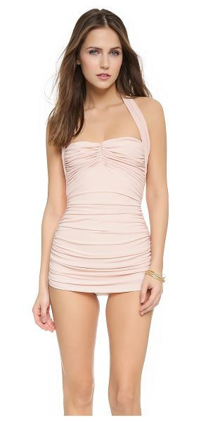 Norma Kamali Bill mio swimsuit in odessa pink - Ruching cinches the sides and bodice of this Norma...