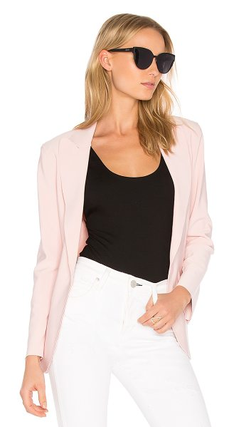 Norma Kamali Single Breasted Jacket in pink - 95% poly 5% spandex. Velcro front closure. Shoulder...
