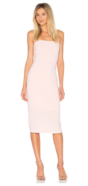 Norma Kamali x REVOLVE Strapless Dress in blush - 95% poly 5% spandex. Fully lined. Non-slip silicone...