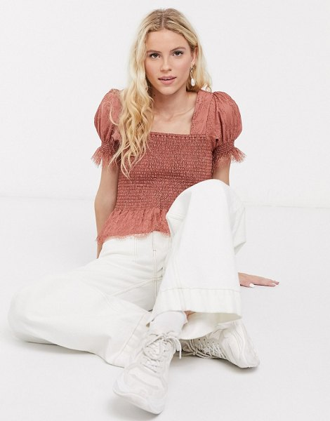 Notes Du Nord ombre shirred top in pink in pink