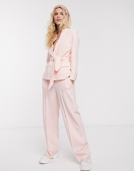 Notes Du Nord oprah tailored pants in soft pink in pink