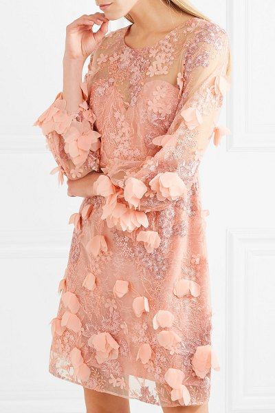Notte by Marchesa embellished tulle and lace dress in baby pink - Marchesa Notte's stunning eveningwear is known the world...