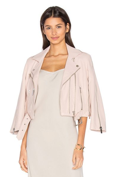 Nour Hammour Avalon Jacket in pink - This essential moto jacket from NOUR HAMMOUR has all the...