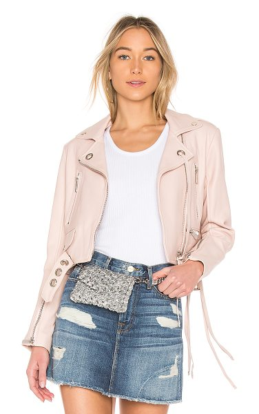 Nour Hammour Desperado Jacket in pink - Ultimate rock 'n roll glamour is represented in the...