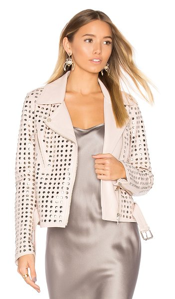 Nour Hammour Schism Jacket in pink - Sartorial studs brought to you by NOUR HAMMOUR's Schism...