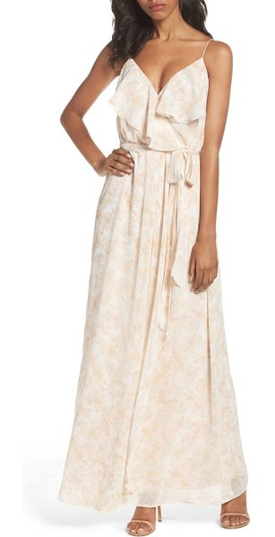 nouvelle AMSALE pamela ruffle gown in nude print - A dress to match the romantic mood of a very special...