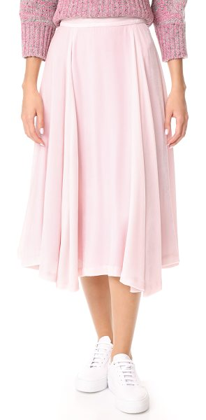 NOVIS underhill skirt in pink - This swingy Novis skirt is crafted from soft pastel...
