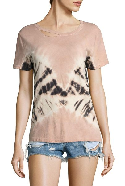 n:PHILANTHROPY harlow tie-dye cotton tee in rose - Tie-dye boyfriend cotton tee finished with cutouts....