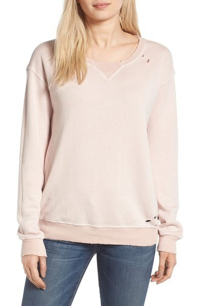N:PHILANTHROPY joni distressed sweatshirt - Distressed edges and ragged holes age this slouchy...